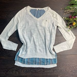 Anthropologie Moth White Sweater Top